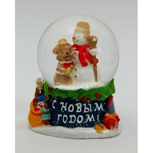 НГ Сувенир Снежный шар Снеговик
