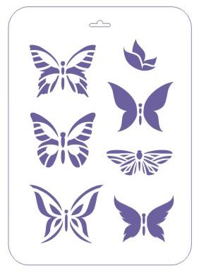 Трафарет 22*31 Бабочки