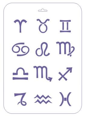 Трафарет 22*31 Знаки зодиака