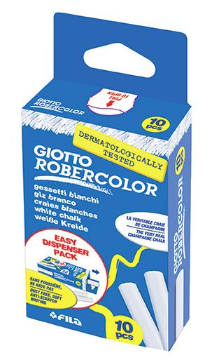 Мелки белые 10 шт Giotto RoberColor Astar