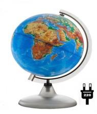Глобус d-20 физический М 1:60 000 000  с подсветкой