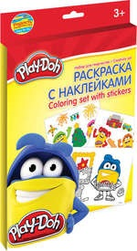 Творч Набор Раскраска с наклейками Play-Doh Coloring set with stickers