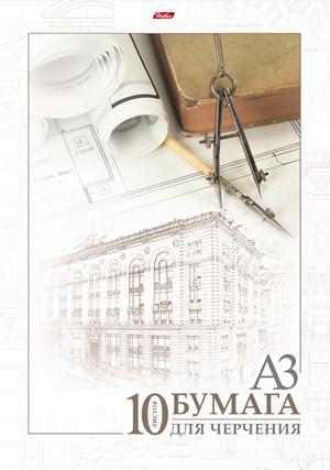 Папка для черчения А3 б/рамки 10л 190гр Архитектура