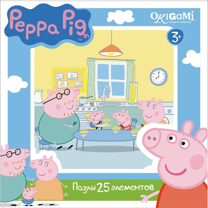 Пазл 25 Origami 01581 Peppa Pig. Завтрак