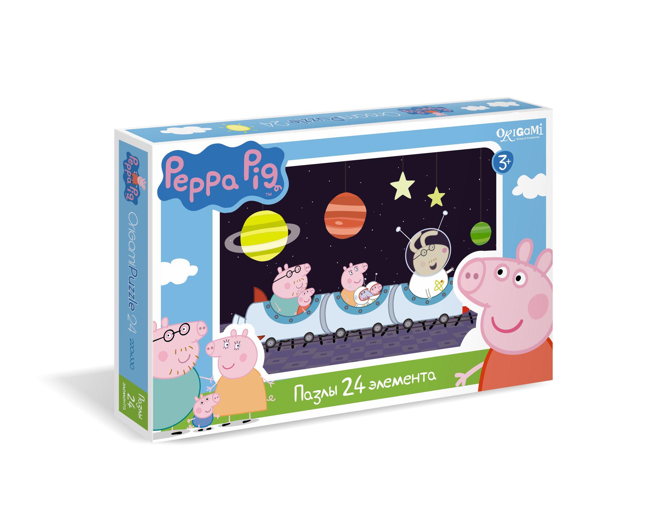 Пазл 24 Origami Maxi 01568 Peppa Pig Полет в космос