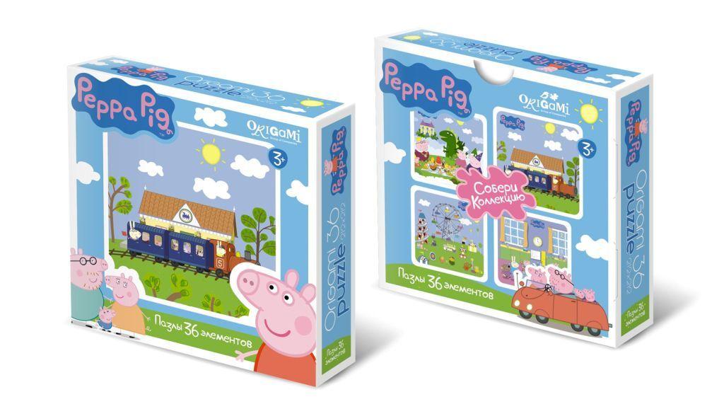 Пазл 36 Origami maxi 01551 Peppa Pig