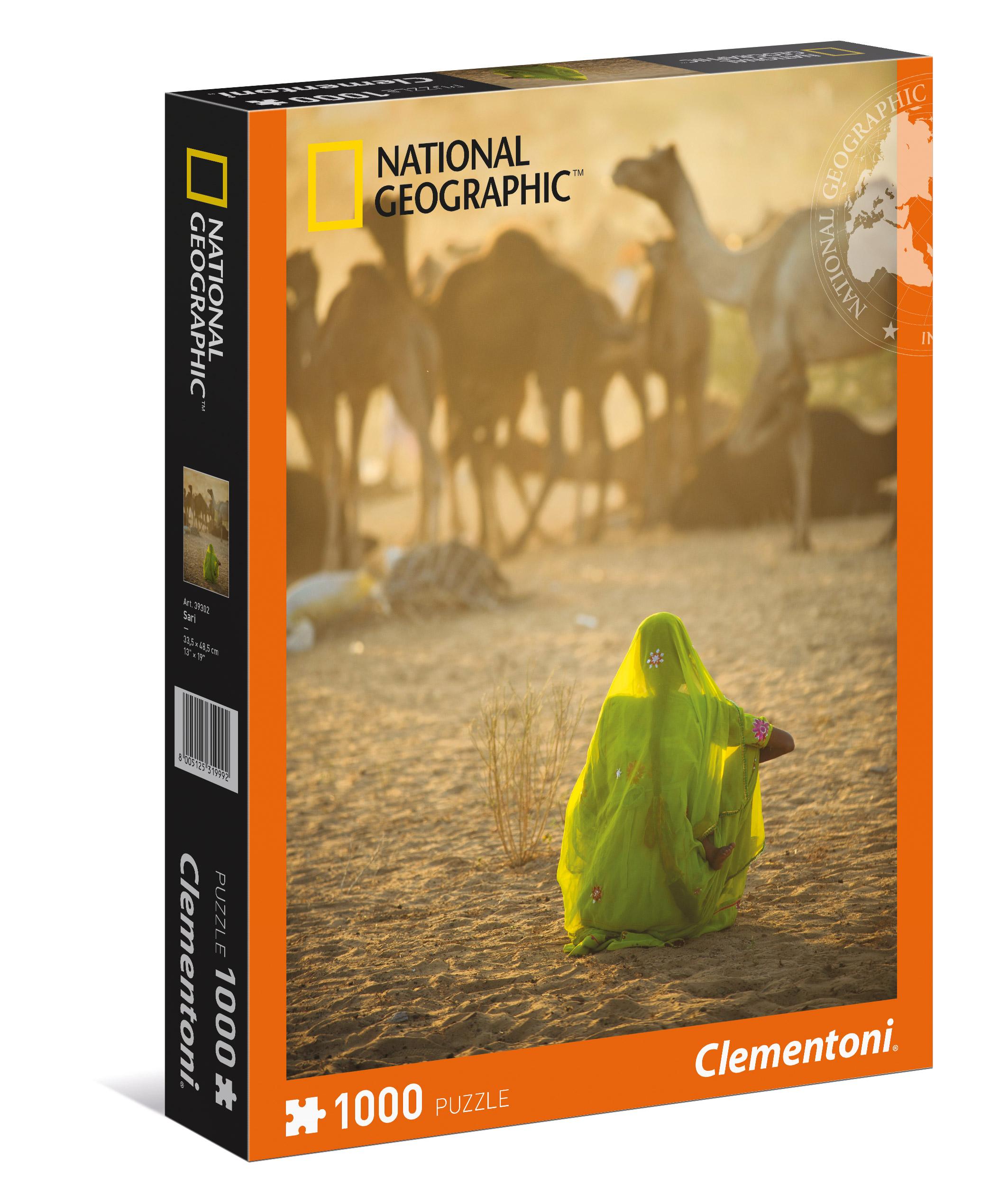 АКЦИЯ19 Пазл 1000 Clementoni 39302 Индианка, смотрящая на караван верблюдов