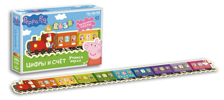 Игра Настольная Паровозик. Цифры и счет Peppa Pig
