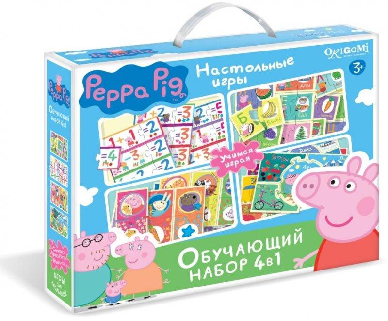 Игра Обучающая 4в1 Азбука. Считалочка. Времена года. Прятки Peppa Pig