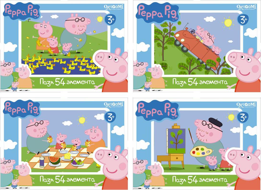 Пазл 54 Origami 01595 Peppa Pig