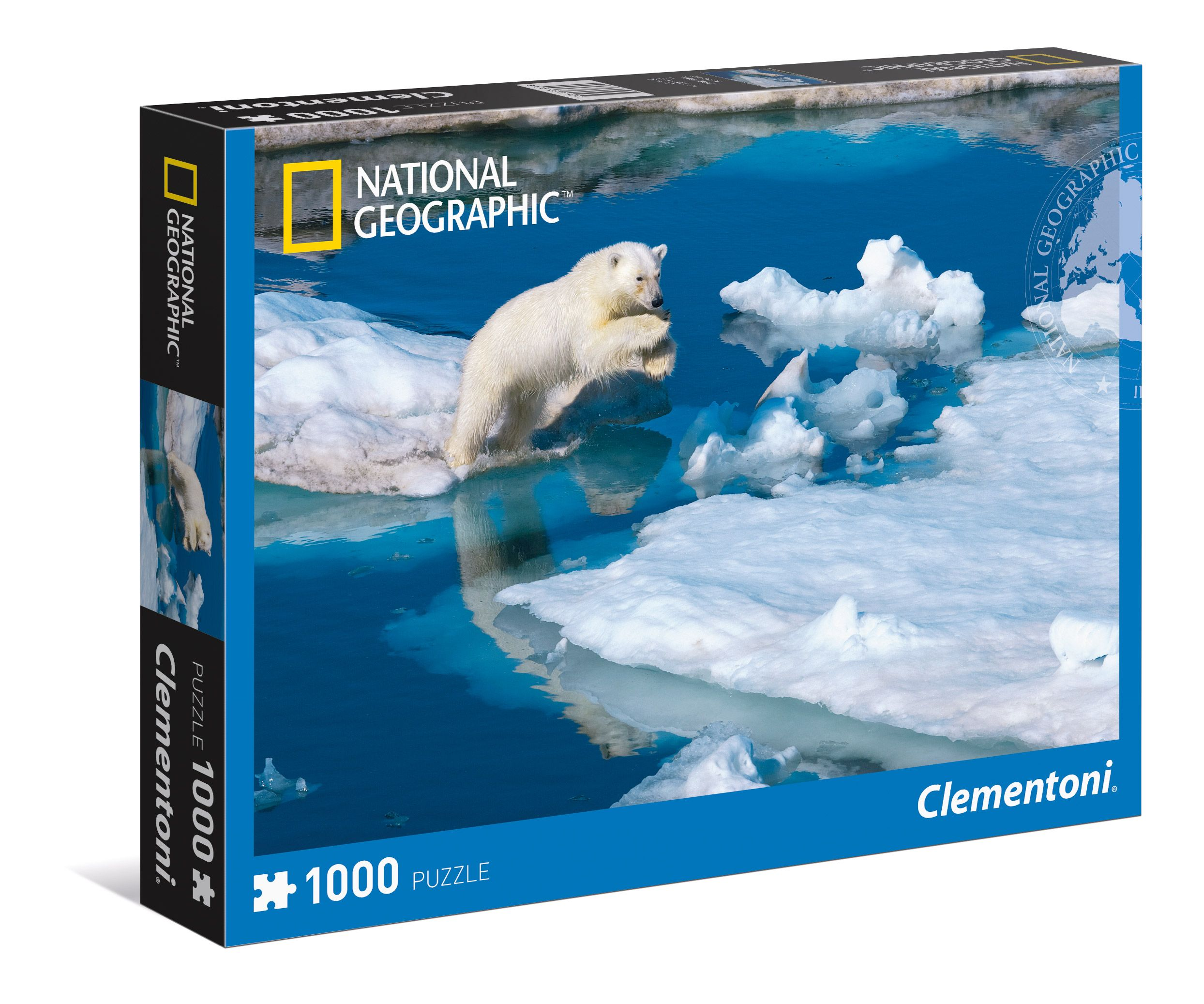 АКЦИЯ19 Пазл 1000 Clementoni 39304 Белый медвежонок на льдинах