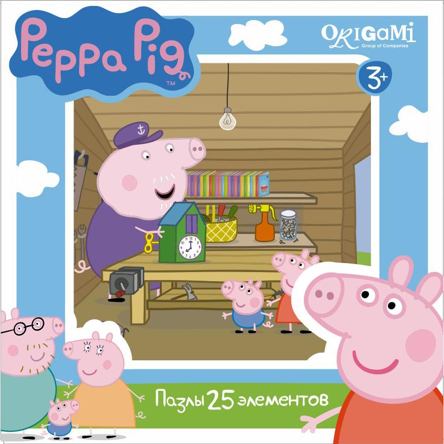 Пазл 25 Origami 01580 Peppa Pig. Мастерская