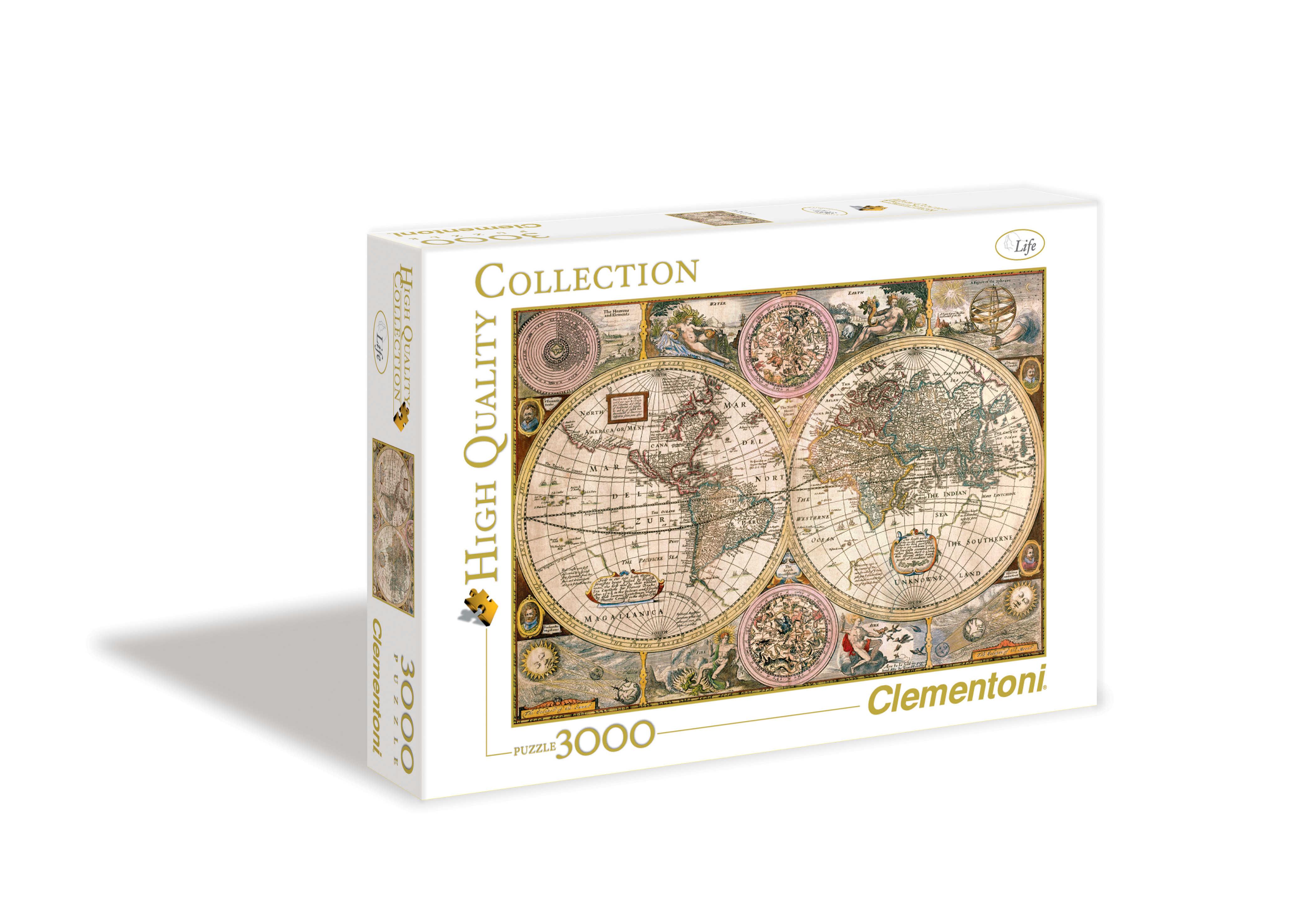Пазл 3000 Clementoni 33531 Древняя карта мира