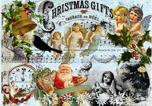 Бумага для декупажа 28*38 25гр/м2 рисовая Cadence Рождество-242
