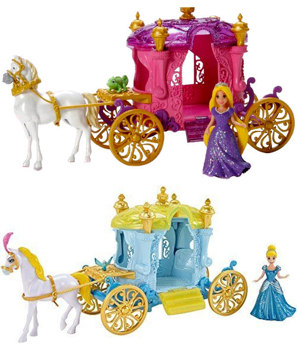набор Кукла в наборе с каретой и лошадью в ассорт. Рапунцель и