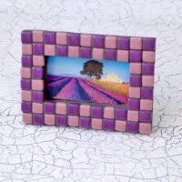 Творч Мозаика Фоторамка №4 фиолетовый/розовый
