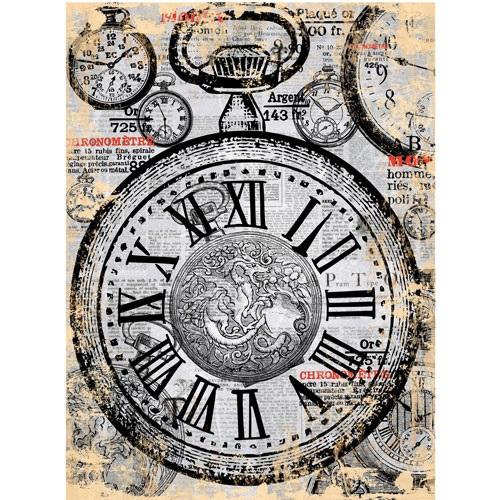 Бумага для декупажа 28*38 25гр/м2 рисовая Cadence Карманные часы