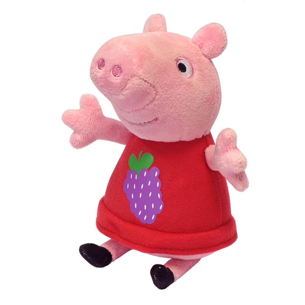 Мягконабивная Peppa Pig Пеппа с виноградом 20см.