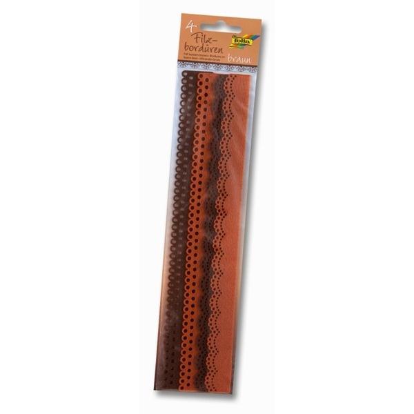 Бордюры из фетра 4шт оттенки коричневого