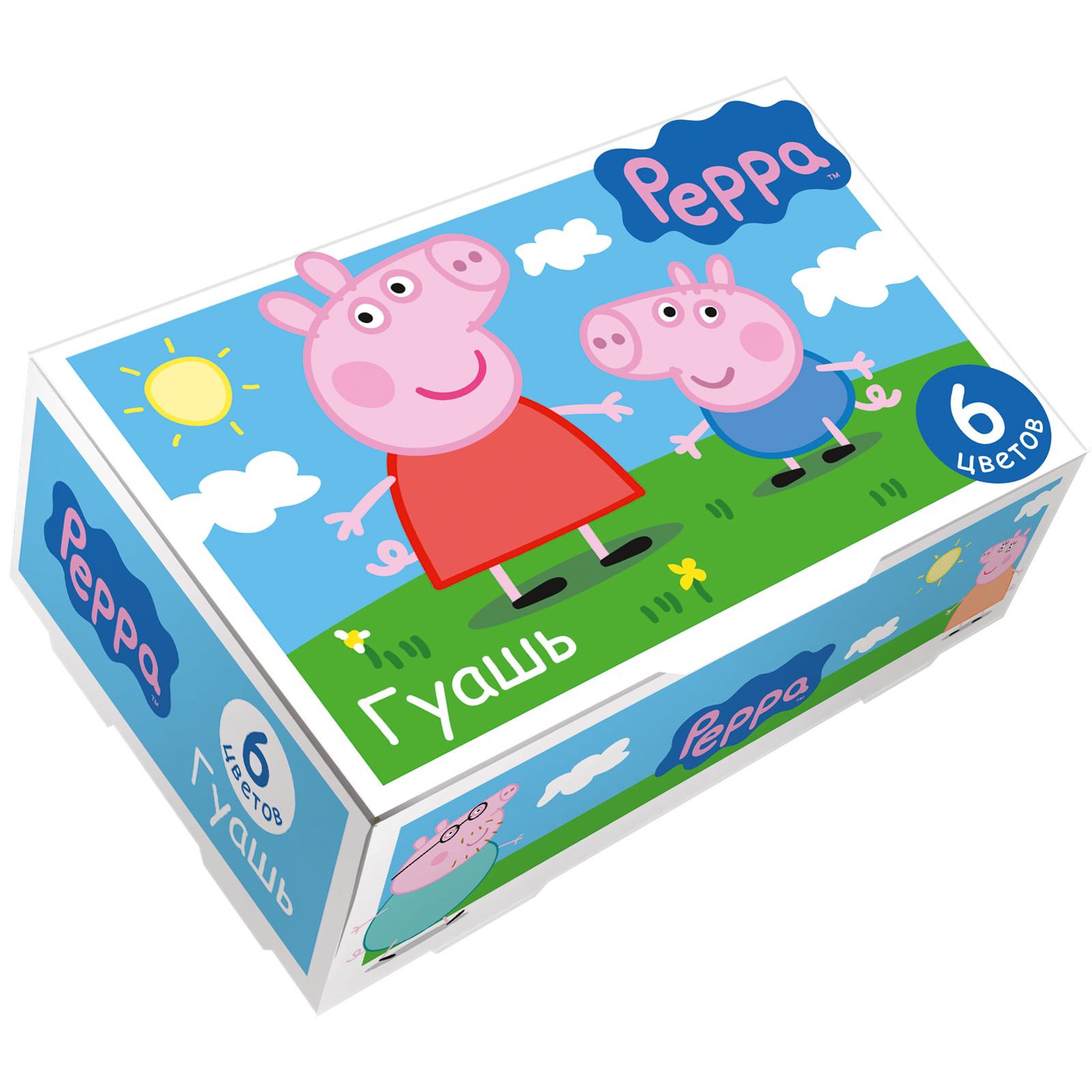 Гуашь 6цв Свинка Пеппа 17мл