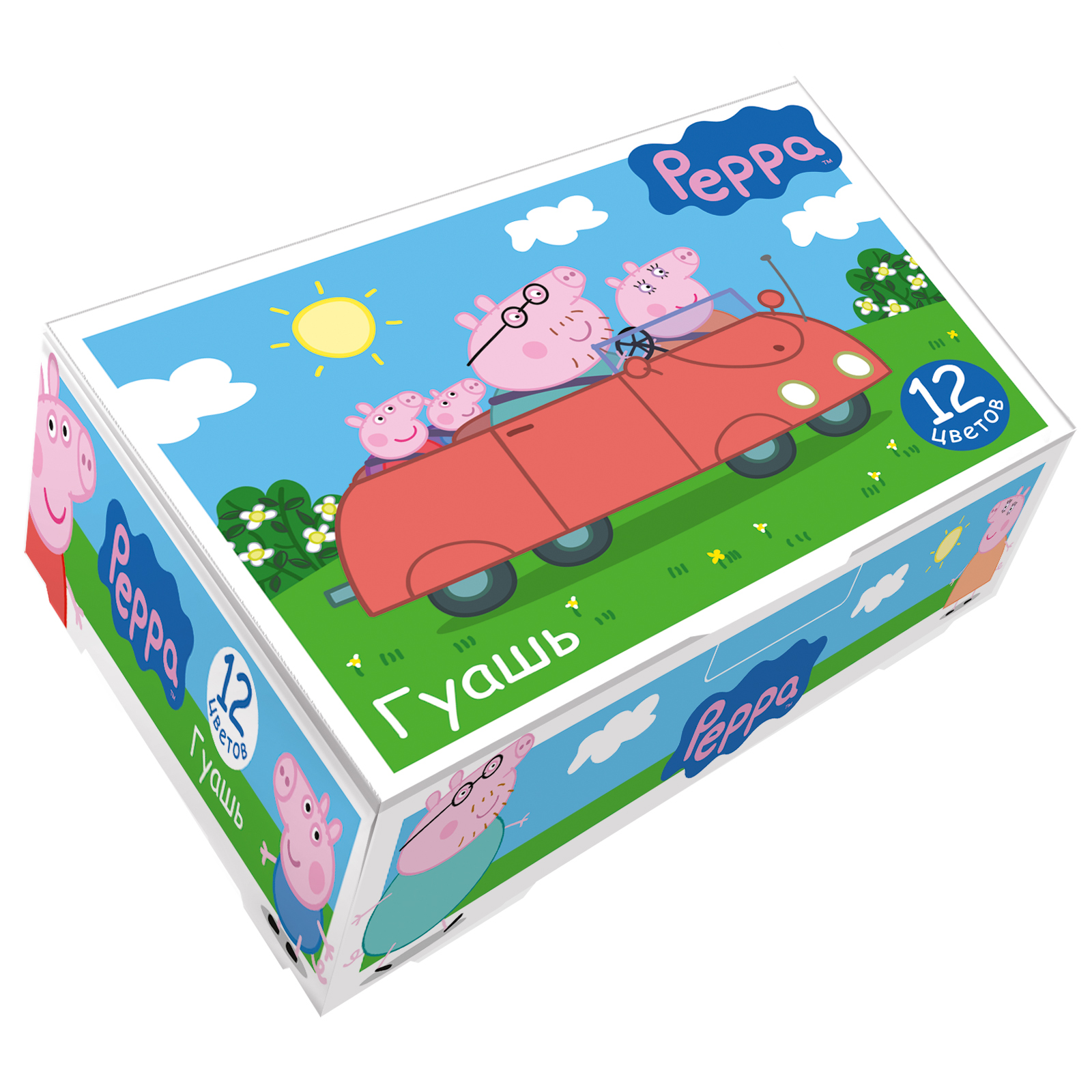 Гуашь 12цв Свинка Пеппа 17мл