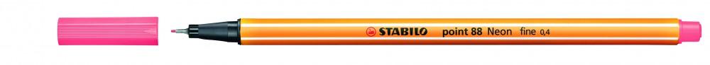 Ручка капиллярная STABILO Point 0.4 красная неон
