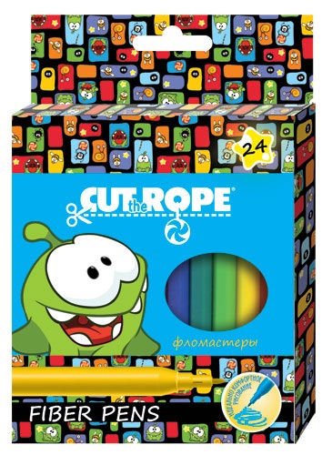 Фломастеры 24 цв Cut the Rope к/к