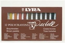 Пастель 12цв Lyra Polycrayons Коричневые тона (сухая)