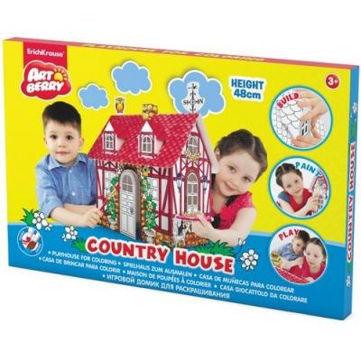 Творч Набор Игровой домик для раскрашивания Country House