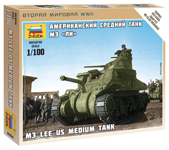 """Сборная модель Американский средний танк М3 """"Ли"""" 1/100"""