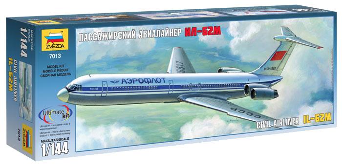"""Сборная модель Пассажирский авалайнер """"Ил-62М"""" 1/144"""
