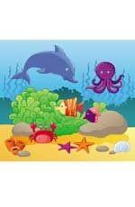 В море: Водораскраски-пазлы