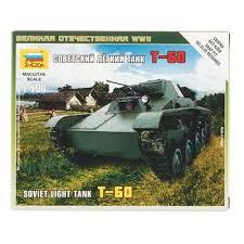 Сборная модель Советский легкий танк Т-60 1/100