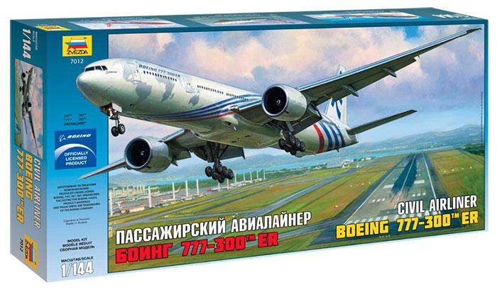 """Сборная модель Самолет """"Боинг-777"""" 1/144"""