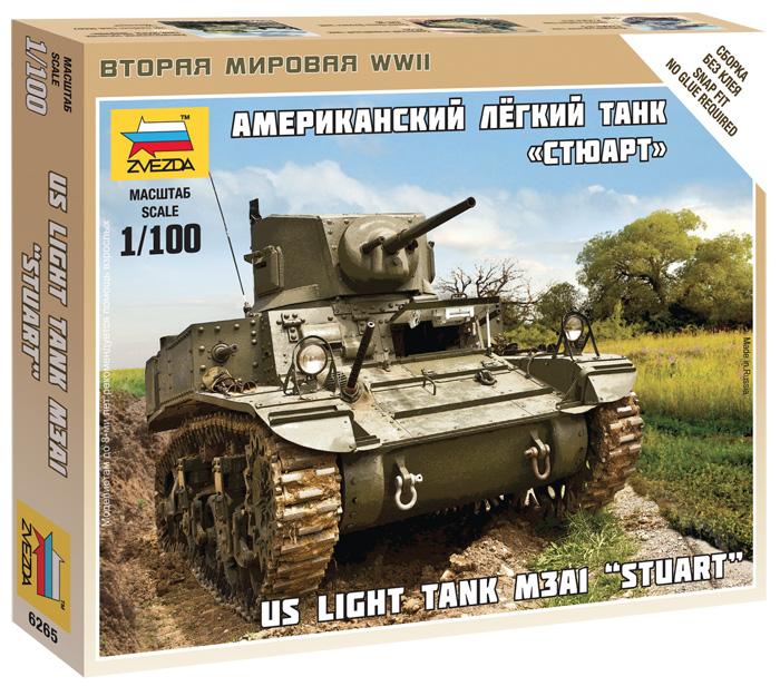 Сборная модель Американский танк Стюарт 1/100