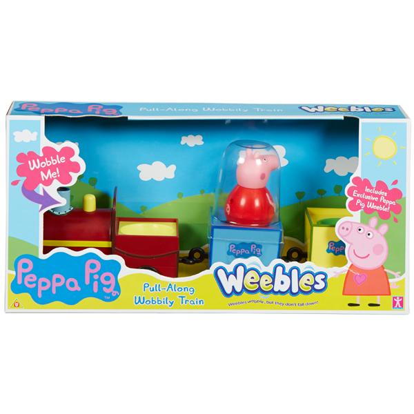 АКЦИЯ-20 Игр набор Peppa Pig Поезд Пеппы пласт.