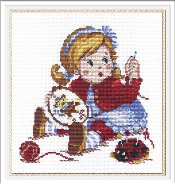 Набор для вышивания мулине 25х22 Вышивальщица