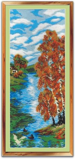 Вышивка бисером 19х50 Осенний день