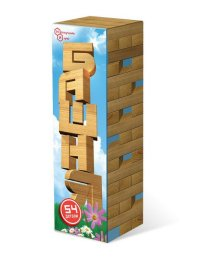 Игра Настольная Башня 54 дет. дерево (аналог Дженга)