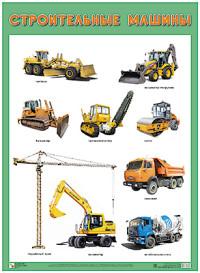 Плакат Строительные машины