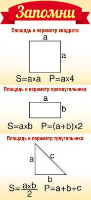 Шпаргалка-карточка Запомни! Площадь и периметр квадрата..+табл умн  6*13