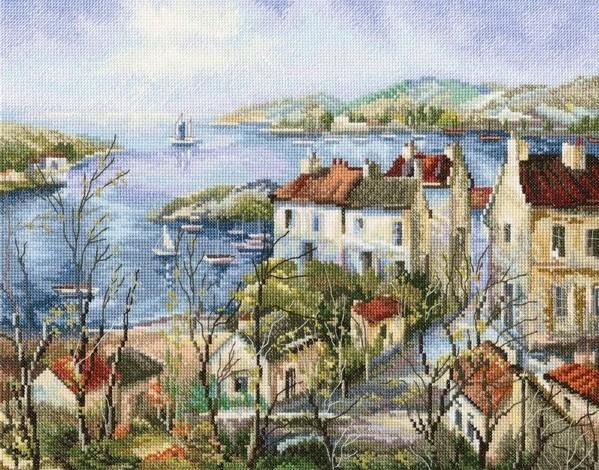 Творч Набор для вышивания крестом 36,5*28,5 Тихий город у моря