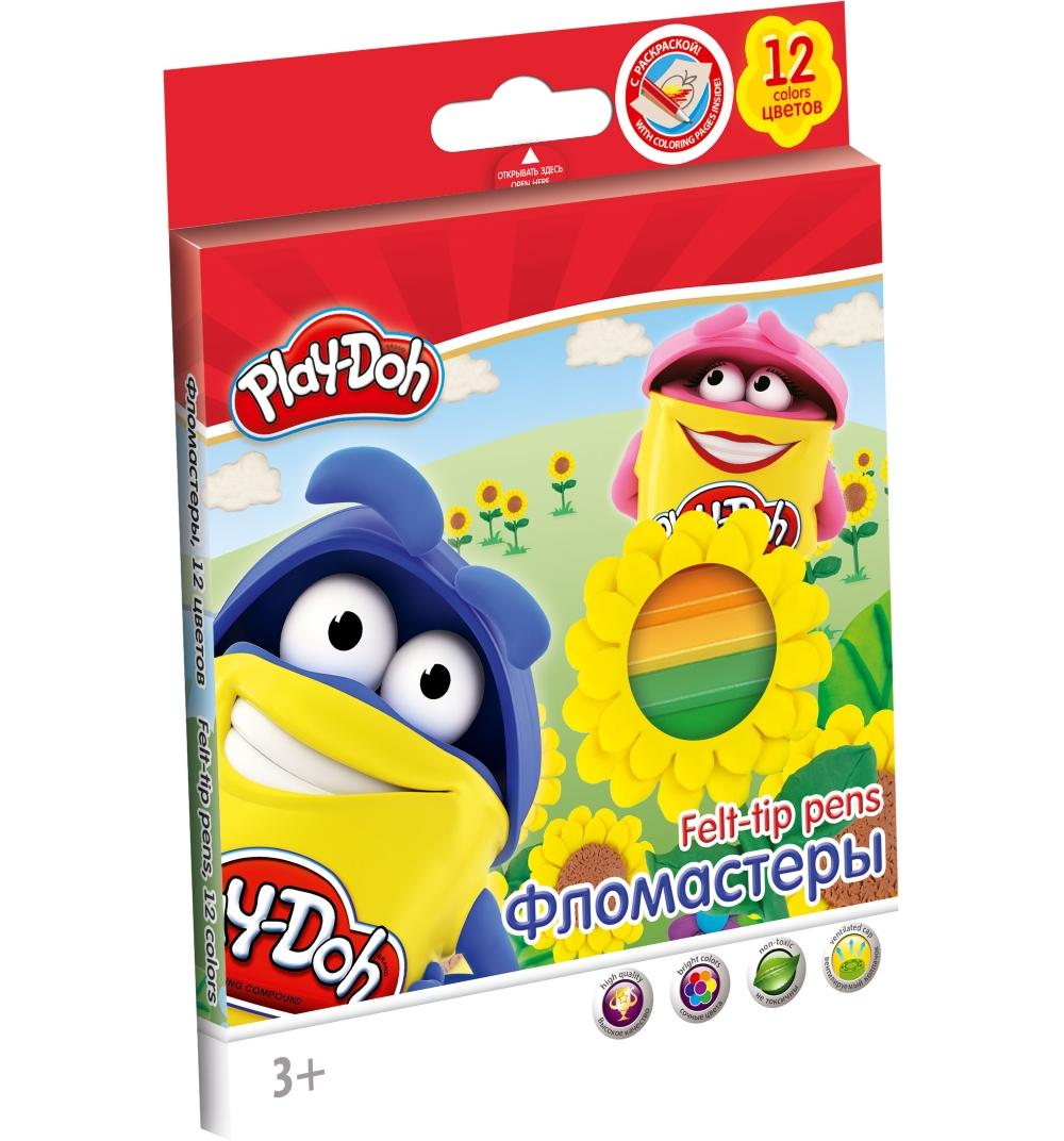Фломастеры 12 цв Play Doh к/к