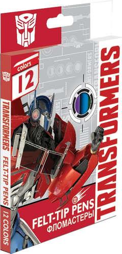 Фломастеры 12 цв Transformers к/к