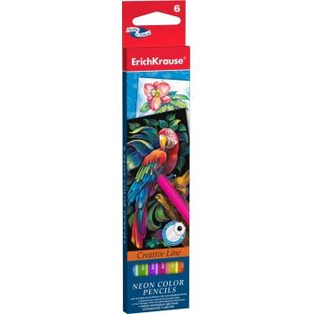 Карандаши цветные 6 цв EK Artberry Neon Попугай