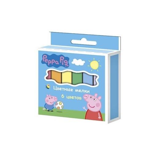 Мелки цветные 6 шт Peppa Pig Свинка Пеппа