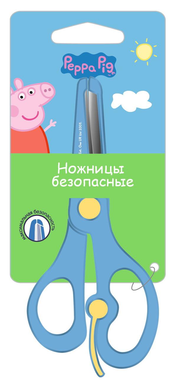 Ножницы детские 130 мм Peppa Pig Свинка Пеппа пластиковые лезвия