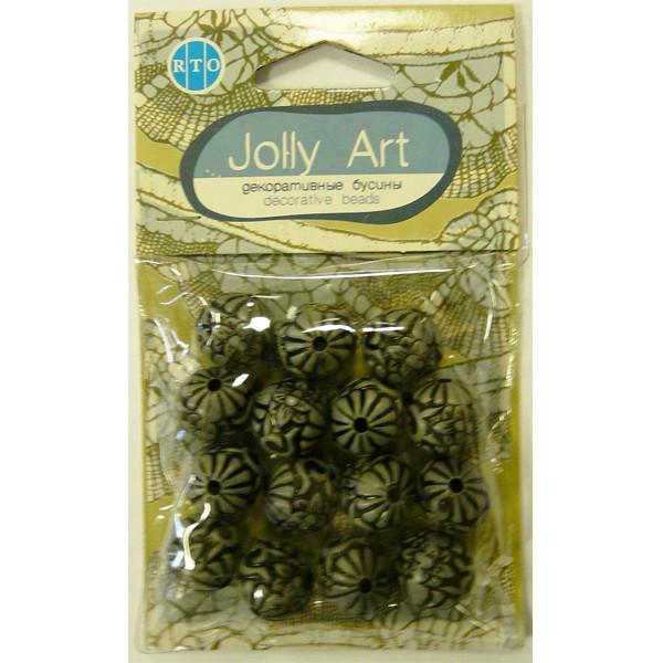 Бусины Jolly Art Шары фигурные серые
