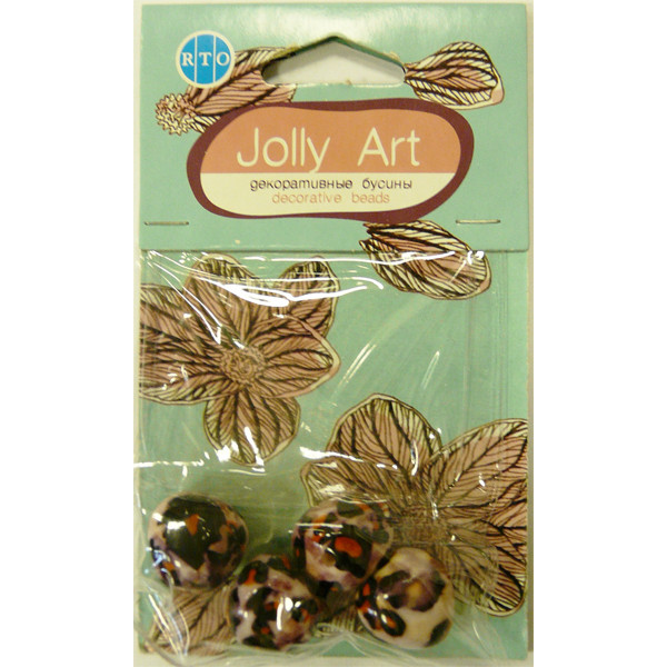 Бусины Jolly Art Камни 4 шт