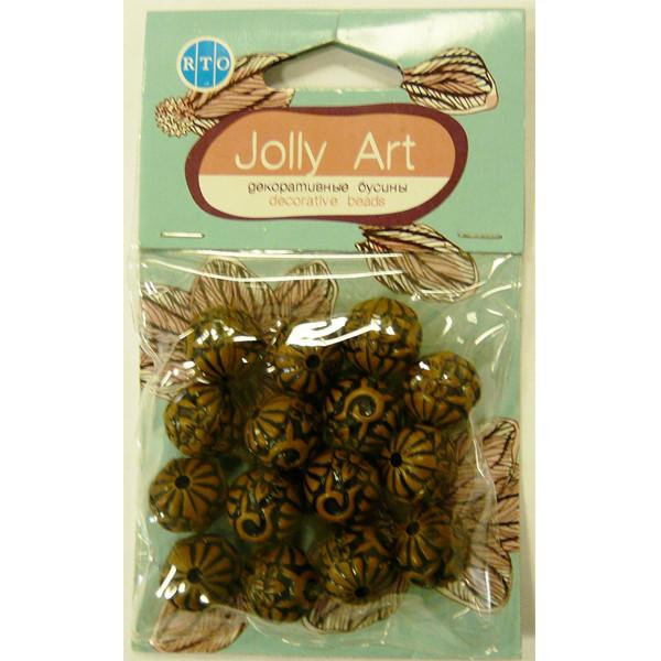 Бусины Jolly Art Шары фигурные коричневые